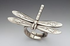 dragonfly ring from Silverspoon jewelry available from ZEPHYR Coast...so special..it looks like a dragonfly has landed on your hand.