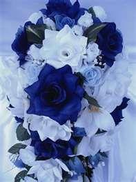 SILVER And royal blue wedding ideas