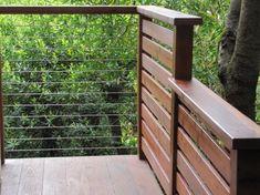 Cable Rail meets wood deck detail