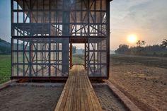 "Rintala Eggertsson Architects. ""Hut to hut"" Kagala, India"
