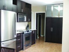 Very modern dark kitchen cabinets