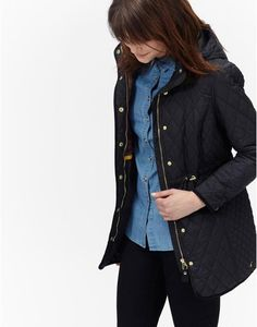 HANBURYQuilted Draw Cord Coat
