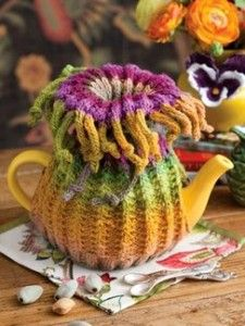 Noro Designs tea cosy.