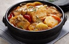 This Portuguese cod stew recipe makes a fancy and delicious meal, ready in about half an hour.