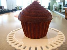 The Beehive Cottage: Birthday Tea Party ~ Giant CupCAKE!