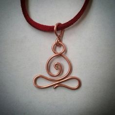 Yoga jewelry! Hand formed pendant made from pure copper wire and hung on your choice of vegan faux suede or pure copper chain necklace. Namaste. ☺ https://www.etsy.com/listing/473675564