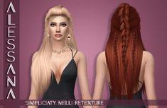 Alessana Sims: LeahLillith`s Nelli hair retextured  - Sims 4 Hairs - http://sims4hairs.com/alessana-sims-leahlilliths-nelli-hair-retextured/