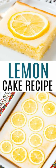 Lemon Cake is an easy and delicious sheet cake recipe that's loaded with lemon flavor and perfect for spring and summer special occasions! via @realhousemoms