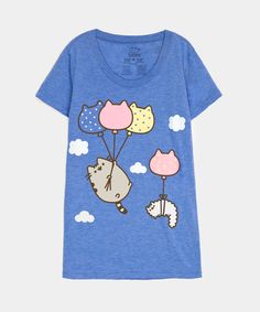 Pusheen Balloons ladies junior T-shirt