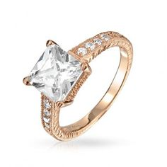 Rose gold is in! A princess cut engagement ring / promise ring