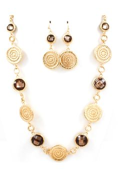 Manuela Necklace Set in Chocolate on Emma Stine Limited