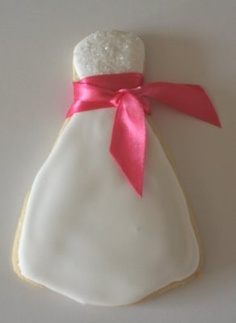 wedding shower favor - Wedding Dress Cookie