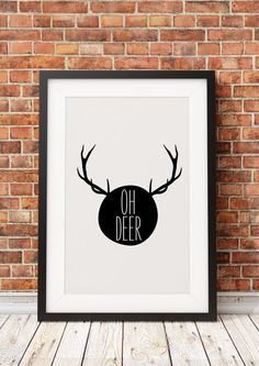 Oh Deer  Jpeg  A4  8x10  INSTANT DOWNLOAD  Digital by ohmyframe