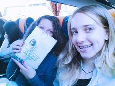 Beautiful student and reader, , Naomi Iannello, with happy schoolmate. Sicily