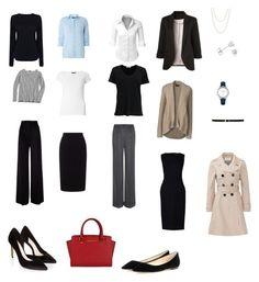 """Office wardrobe essentials"" by crystal-davis-4 on Polyvore featuring Roland Mouret, MaxMara, Dorothy Perkins, J.Crew, Lands' End, rag & bone, Dolce&Gabbana, Helmut Lang, Monsoon and Jimmy Choo"