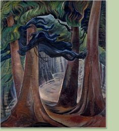 Emily Carr  Canadian (1871-1945), contemporary of the Group of Seven  -    Among the Firs, ca.1931