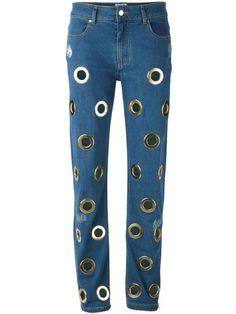 Get wild with a pair of jeans adorned with pearls, crystals, or pop sensations. Shop the 13 best embellished jeans, including Filles a Papa Jeans Arsene here.