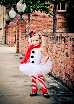 Miss Frosty the Snowman Tutu Christmas Outfit with Matching Christmas Top Hat, Top Tutu and Legwarmers Photography Prop Newborn-3t. $55.00, via Etsy.