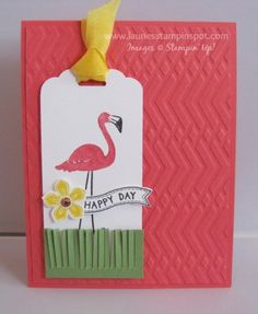 Flamingo Lingo Happy Day Card by imamuttnut - Cards and Paper Crafts at Splitcoaststampers