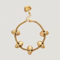 5 Skulls Chain Bracelet