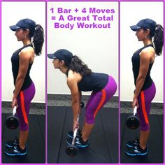 Gym too crowded? Don't wait for the machines...Try this great, 4 move, total body workout that just uses one piece of equipment!