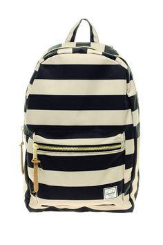 Herschel Supply Co. Stripe Settlement Backpack in Black for Men - Lyst Cheap Michael Kors, Michael Kors Outlet, Handbags Michael Kors, Mochila Jansport, Black Backpack, Striped Backpack, Men's Backpack, Canvas Backpack, Cute Backpacks