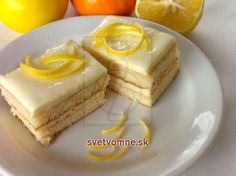 Refreshing lemon slices which ensure you a compliment from your guests. The recipe was made from the half-dose of a standard, but if you expect more guests, it is recommended to double the dose. Food Cakes, Cupcake Cakes, Sweet Recipes, Cake Recipes, Czech Recipes, Fruit Jam, Baking Flour, Sweet And Salty, Cake Cookies