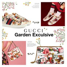 """""""Presenting the Gucci Garden Exclusive Collection: Contest Entry"""" by chakragoddess ❤ liked on Polyvore featuring Gucci"""