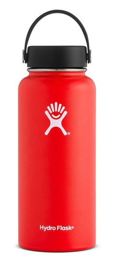 Hydro Flask 40 oz Double Wall Vacuum Insulated Stainless Steel Leak Proof Sports Water Bottle, Wide Mouth with BPA Free Flex Cap, Lava