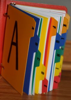 Easy ABC book: let kids find items and pictures that correspond with the letters of the alphabet and let them put it together.