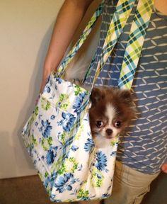 Ideas de moda diy dog carrier no coser bolsas de mano - Alles Pinner Dog Carrier Purse, Dog Purse, Diy Dog Bag, Dog Wear, Tote Pattern, Pet Carriers, Color Azul, Fur Babies, Etsy