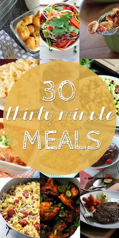 30 Meals Ready in 30 Minutes or Less: Casseroles, Soups, Pasta, Salads and more. Quick meals for when you need dinner in a hurry. by Penney Lane Kitchen