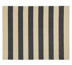 Awning Stripe Dhurrie Rug - Navy Blue #potterybarn 8 x 10 $517.89 / 9 x 12 available not for international shipping / call Canadian store