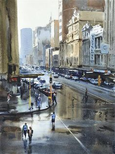 Australia. Watercolor by Greg Allen #watercolor jd