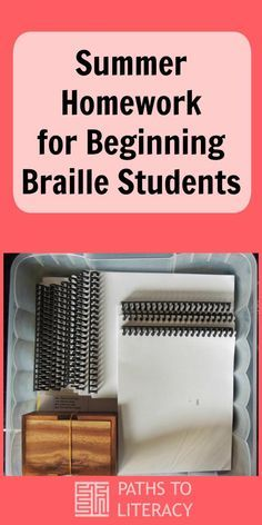 Braille homework practice helps young readers with visual impairments to maintain their skills during summer vacation. Visually Impaired Activities, Braille Reader, Braille Alphabet, Summer Homework, Teaching Career, Teaching Tools, Literacy Skills, Childhood Education, Visual Impairment