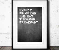 expect problem poster - 50x70 Konstgaraget