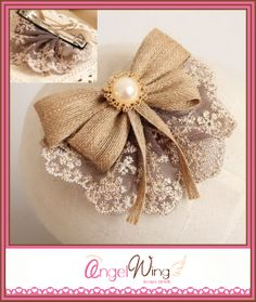Lacy Elegant Hair Bow by AngelWingScraps on Etsy, $7.24