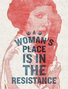 We love this timely tribute to General/Princess Leia Organa: Diplomat. Leader. Freedom Fighter. Designed by Mississippi artist Hayley Gilmore and donated for people to use at the Women's March on W…