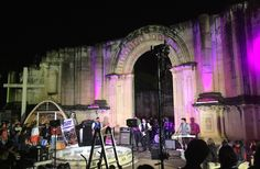 A Beatles tribute band play Oaxaca's main cemetery, Day of the Dead 2015