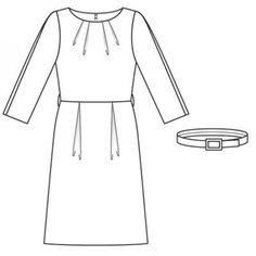 Платье-футляр с косыми складками
