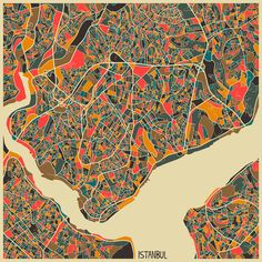 istanbul map art ile ilgili görsel sonucu
