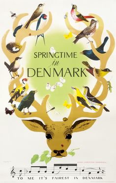 Springtime in Denmark by Viggo Vagnby (1949) | Shop original vintage posters online: www.internationalposter.com