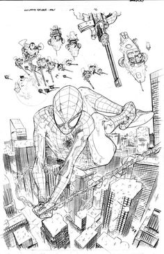 Peter Parker as Spider-Man (pencils to page 16 of Ultimate Spider-Man Vol. 1 #115)