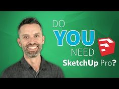 Do you need SketchUp Pro? In this video, you will discover 10 SketchUp Pro features that design professionals depend on to get the job done. Sketchup Free, Sketchup Model, Architect Software, Title Block, Google Sketchup, Cad Software, Construction Documents, Home Design Software, Teaching Methods