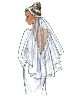 B4487 (Digital) Wedding Dress Drawings, Wedding Dress Illustrations, Wedding Drawing, Wedding Illustration, Wedding Art, Wedding Blog, Dream Wedding, Wedding Ideas, Fashion Illustration Sketches