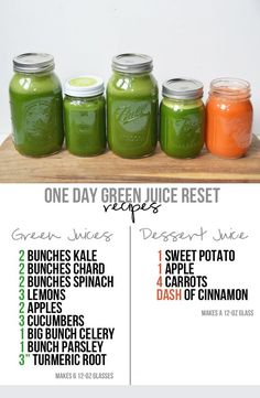 At-Home Green Juice Reset (+Grocery List One-day green juice cleanse you can do at home - grocery list, recipes & all the info you need!One-day green juice cleanse you can do at home - grocery list, recipes & all the info you need! Healthy Juice Recipes, Juicer Recipes, Healthy Detox, Healthy Juices, Detox Recipes, Healthy Smoothies, Healthy Drinks, Green Juice Recipes, Juice Cleanse Recipes