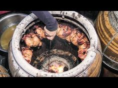 Roasted Chicken in Charcoal Oven. Thai Street Food, Bangkok, Oven Chicken, Roasted Chicken, Tandoor Oven, Thailand, Hotel Food, Smoking Recipes, Bbq Grill