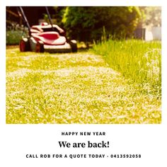 Happy new year! We are back from our little break and looking forward to helping you transform your outdoor areas in 2018. . We kicked off the year with a mowing run on Monday - in one yard only we got 29 catchers of clippings! Wow! . Rob is running around doing quoting this week so if you are thinking 2018 might be the year of landscaping at your home give him a call! . #brisbanelandscaper #landscaper #landscaping #outdoorlivingspaces #outdoors #outdoorliving #gardenscapes #gardenmakeovers…