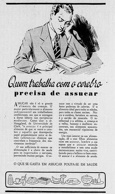 """Advertising from sugar industries at newspaper """"Correio Paulistano"""" in 1939"""