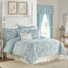 Croscill Willa California King or King Comforter Set 4 Pieces NIB Choice Luxury Bedding Sets, Comforter Sets, Bed Sheets, Bed, Blue Comforter Sets, Home, Bed Linen Online, Luxury Bedding, Bedding And Curtain Sets